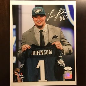 Other - Lane Johnson Eagles Autograph Signed 8X10 Photo